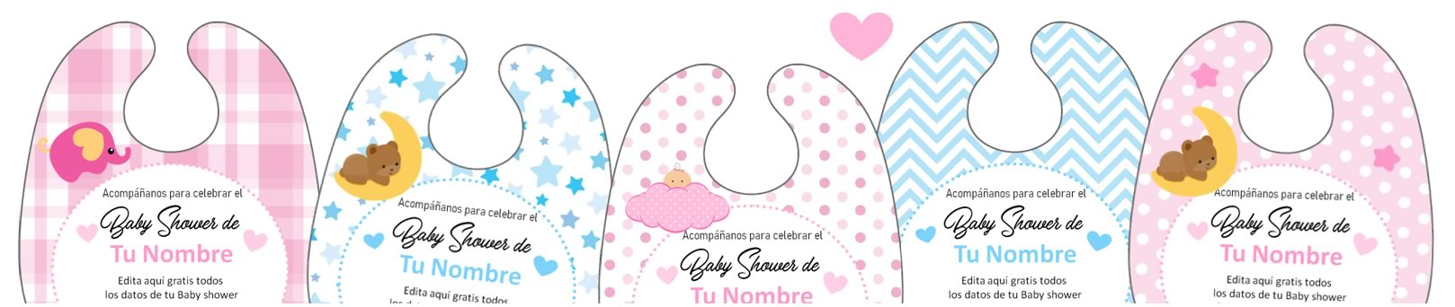 Baby Shower Babero Banner