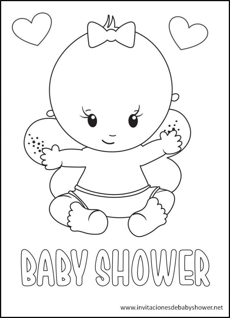 Baby Shower para colorear bebe