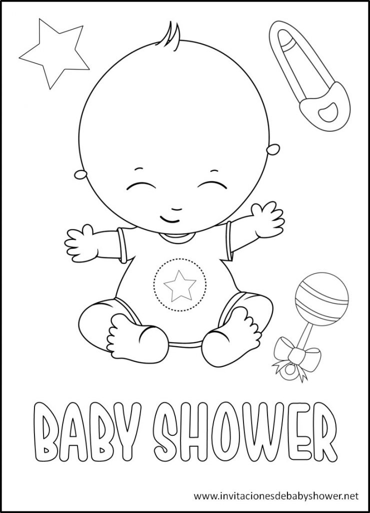 Baby Shower para colorear