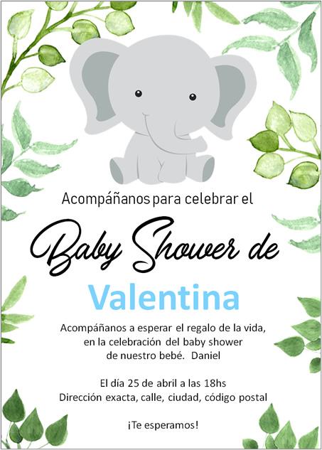 qué lleva una invitación de baby shower?