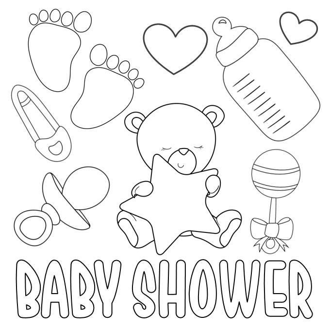 Imágenes para Colorear baby shower