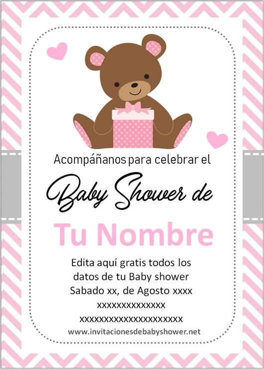Invitación baby shower para niña en español